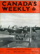 CANADA'S WEEKLY June 2 1944 WW2 Canadian Troops Roll of Honour RCAF Navy MAG