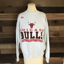 Chicago Bulls Pro Player Gray Mens Crewneck Sweater Size Large 90s