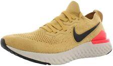 Nike Men 10.5 Epic React Flyknit 2 Athletic Sneaker Running Shoe GOLD Fabric
