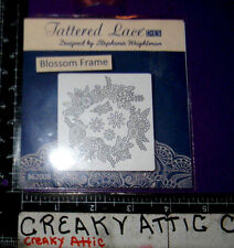 BLOSSOM FRAME FLOWERS CIRCLE 5 FRAMELITS THINLITS DIE CUT TATTERED LACE D1160