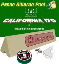 R.L. Longoni California panno biliardo pool 8' cm.280x170 + 6 gomme x sponde SP