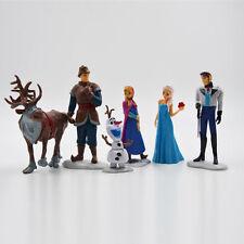 Frozen Princess Cake Toppers Elsa Olaf Anna Figures Set Disney Toy Decorations