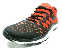 Nike Free Trainer 5.0 Mens Shoes 579809 601 Running Sneakers Leather Black Red