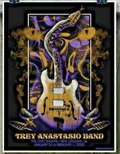 Trey Anastasio Band New Orleans La 2020 Poster Ae Signed S/N #5/40 Ships Today!