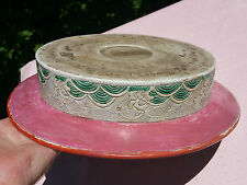 FAMILLE ROSE antique chinese porcelain bowl straits pottery vtg peranakan bird