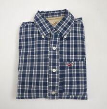 Hollister Mens Plaid Button Down Shirt Size Small Blue & White