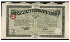 Xxx-Rare 1926 Nobel Dynamite Bond w Coupons! Bilingual (French-Italian) Historic