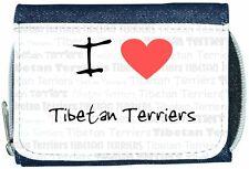 I Love Heart Tibetan Terriers Denim Wallet