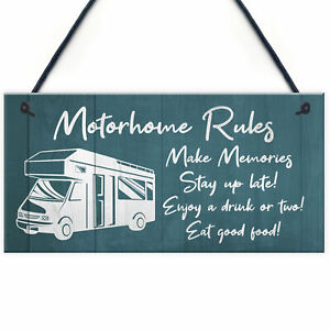 Novelty Motorhome Sign Hanging Door Plaque Caravan Sign Family Friendship Gift