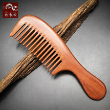 Red Sandal Wood Hair comb Wide Toothed Comb Hair Care Hairbrush Massage brush