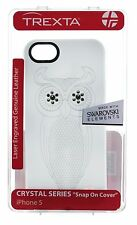 Trexta Genuine Leather CRYSTAL SERIES iPhone 5S/5/SE Case/Cover Swarovski White