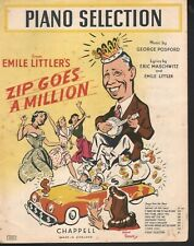 Zip Goes A Million Piano Selections 1951 Sheet Music