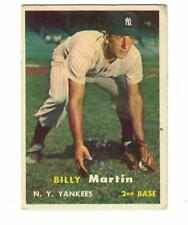 1957 TOPPS BILLY MARTIN CARD #62