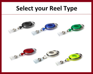 Heavy Duty CARABINER OVAL Shape Badge Reel with Strap for ID Card Holder & Keys