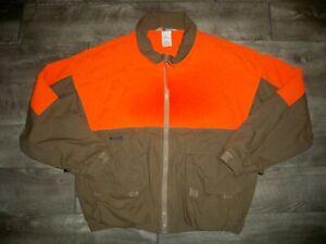 Vintage Columbia Birding Hunting Blaze Orange Jacket Coat Men's Size Xlarge XL