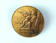 """French Bronze Medal """"REPUBLIQUE FRANCAISE"""" by Louis Bottée c1900"""