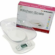 5KG ELECTRONIC WEIGHING SCALE BOWL KITCHEN DIGITAL LCD COOKING MEASURING NEW