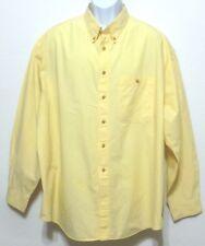 Trader Bay Men's Banana Yellow Cotton Button Front Shirt - Size 2XL (50 - 52)