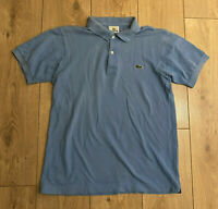 Lacoste Men's Polo T Shirt Blue Size 3 Small 100% Cotton Short Sleeve 5191