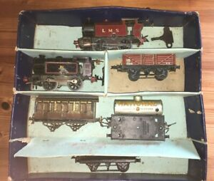 Hornby O Gauge Locomotives, coach, trucks job lot