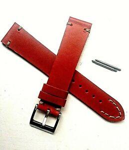 Genuine Leather Elegance watch strap Vintage style for Hamilton.