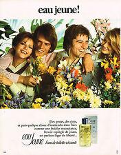 PUBLICITE ADVERTISING 015  1973  EAU JEUNE   eau de toilette vivante