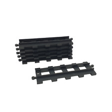 6 Lego Duplo TRAIN BLACK Track Straight (long)