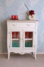 Devon 1 Drawer 2 Glass Door Sideboard Cupboard Storage Shabby Chic Cream