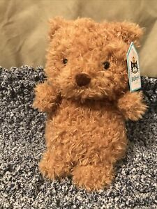 Jellycat Little Bear Brown Fuzzy HTF Sold Out Jelly Cat Plush Lovey Rare