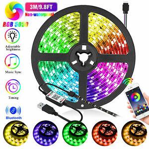 3M LED Strip Lights TV Back Light 5050 RGB Color Changing Bluetooth APP Remote