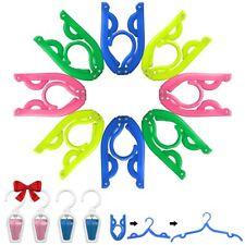 8 Pcs Portable Travel Folding Clothes Hangers, YuCool Foldable Plastic Drying