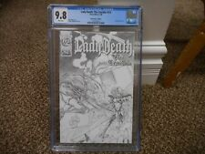 Lady Death The Crucible 1 / 2 cgc 9.8 Chaos Wizard 1996 MINT WHITE pgs Canvas sk