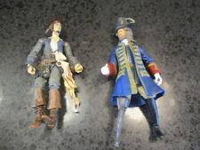 "Pirates of the Caribbean Lot ~ 7"" Action Figures Captain Barbossa & Jack Sparrow"