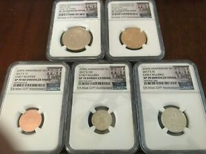 2017 S 225th ANNIVERSARY Enhanced Set NGC SP70 Early Releases 1c TO $1