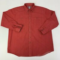 Sutter & Grant Mens Size 2XLT Tall Red Long Sleeve Button Front Shirt N-68