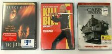Sixth Sense (New), Kill Bill 2 (New), and Cabin in the Woods (Used) - Dvds