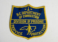 Division or Department of Corrections Prisons Badge NC North Carolina USA