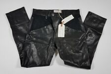 Current Elliott Black Leather Utility Slouchy SKINNY Jeans - Size 25