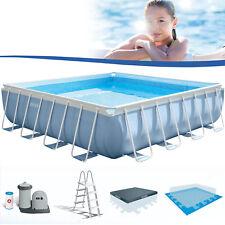 Intex Frame Pool Set Prism 488x488x122 cm Pumpe Schwimmbad Schwimmbecken 28766GN