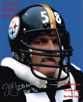 Reprint Jack Lambert Autographed Pittsburgh Steelers 8X10 PHOTO Man Cave Sign