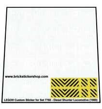 Precut Custom Replacement Stickers voor Lego Set 7760 - Diesel Shunter Locomotiv