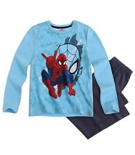 Marvel Ultimate Spiderman Pyjama Schlafanzug lang blau Gr.140
