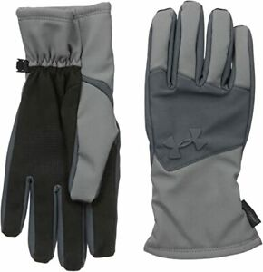 New Other Under Armour Men's Small ColdGear Infrared Softshell Gloves Grey/Black