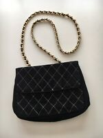 BRUNO MAGLI Black Leather Flap Shoulder/Cross Body Bag-Handbag Purse FREE SHIP