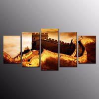 Canvas Prints Great Wall of China Canvas Painting Wall Art Home Decor 5pcs