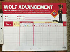 """Boy Scout Wolf Cub Advancement Chart 23"""" x 17"""" Made in USA Official Licensed BSA"""