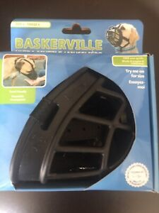 LM Baskerville Ultra Muzzle for Dogs Size 4 - Dogs 40-65 lbs - (Nose Circumferen