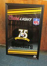 2007 Coors Light Beer Pittsburgh Steelers 75th Season Anniversary Mirror
