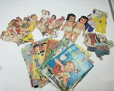 Huge Lot of Paper Dolls, Babies, Clothes, Accessories, from 1940s, 50s