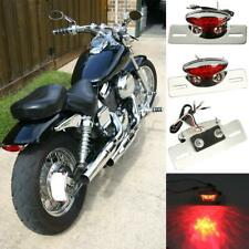 Motorcycle License Plate Bracket Tail Light For Chopper Bobber Cafe Racer Custom